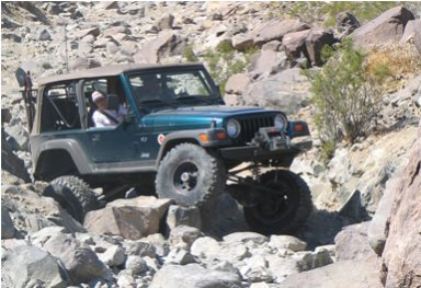 Jeep In River Bed Image